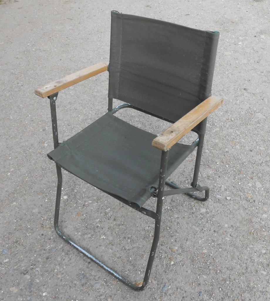 Military Army Folding Canvas Camping Garden Show Chair H and H Surplus